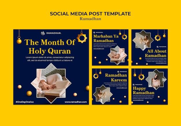 Publication sur les médias sociaux de la célébration du ramadan