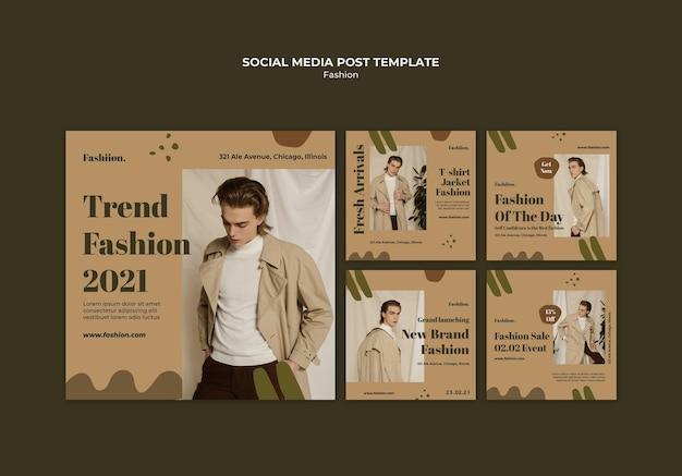 Publication de médias sociaux de concept de mode