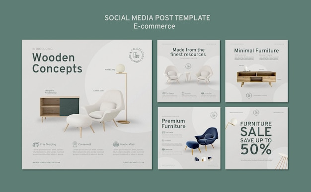 Publication sur les médias sociaux du commerce électronique