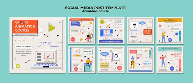 Publication sur les médias sociaux du cours d'animation