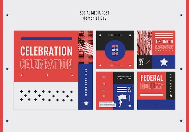 Publication sur les médias sociaux du memorial day