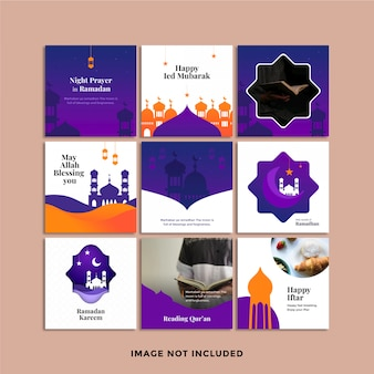 Publication sur les médias sociaux du ramadan kareem