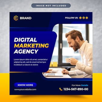Publication de médias sociaux d'entreprise et d'entreprise et modèle de bannière de médias sociaux ou de bannière web