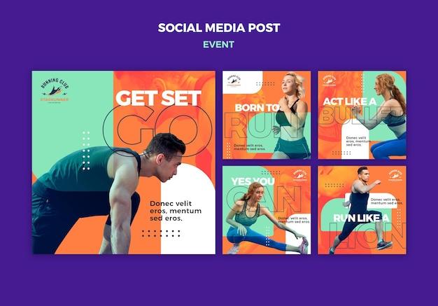 Publication sur les médias sociaux de l'événement sportif