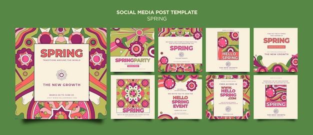 Publication sur les médias sociaux de la fête du printemps