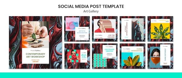 Publication sur les médias sociaux de la galerie d'art