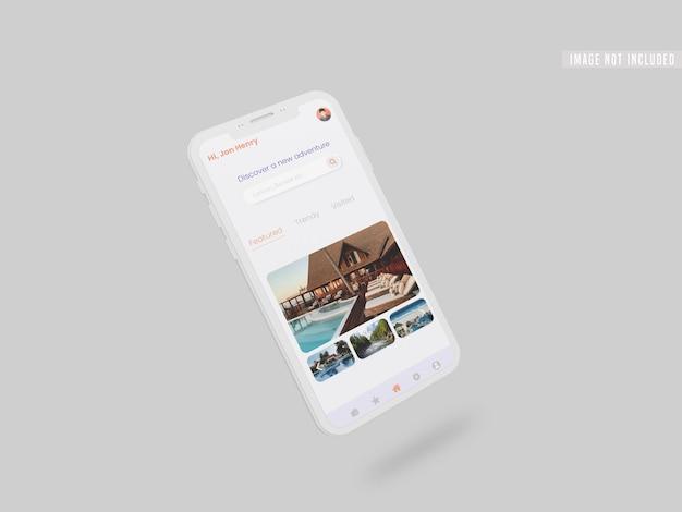 Publication de médias sociaux instagram dans une maquette de smartphone