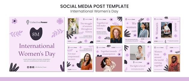 Publication sur les médias sociaux de la journée internationale de la femme