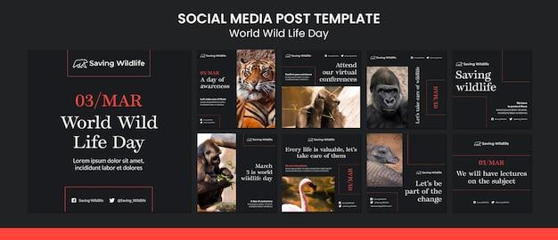 Publication sur les médias sociaux de la journée mondiale de la vie sauvage