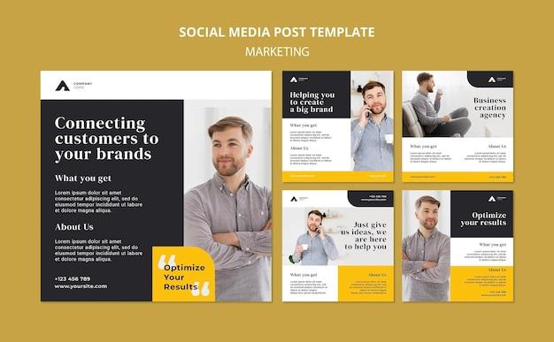 Publication sur les médias sociaux de marketing d'entreprise