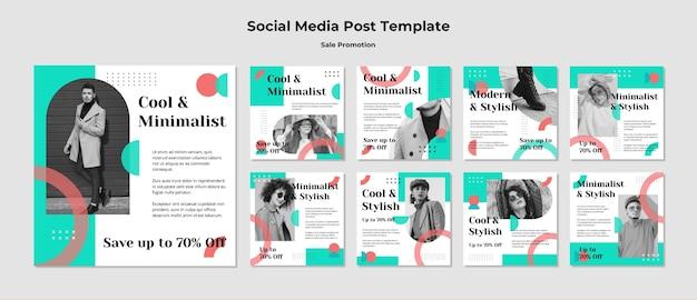 Publication sur les médias sociaux de promotion de vente