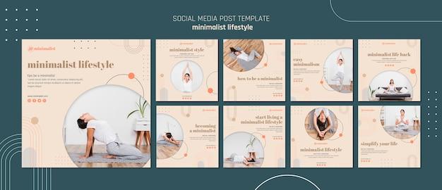 Publication sur les médias sociaux de style de vie minimaliste