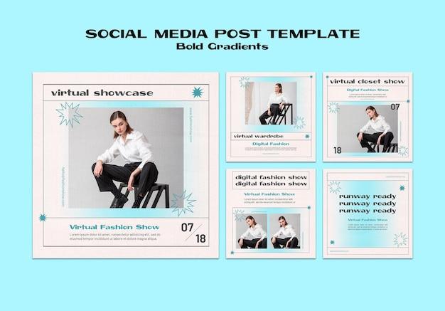 Publication sur les médias sociaux de vitrine virtuelle