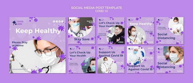 Publication sur les réseaux sociaux sur le coronavirus