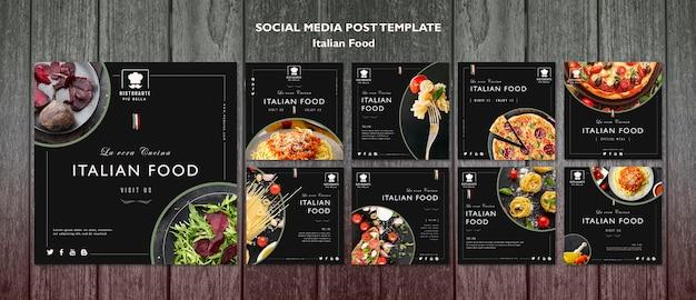 Publication sur les réseaux sociaux de la cuisine italienne