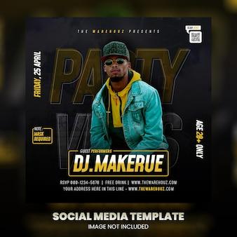 Publication sur les réseaux sociaux du dépliant du club dj party