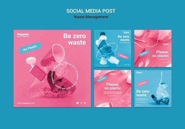 Publication sur les réseaux sociaux sur la gestion des déchets