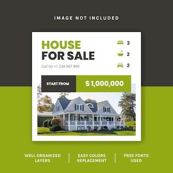 Publication sur les réseaux sociaux de l'immobilier vert