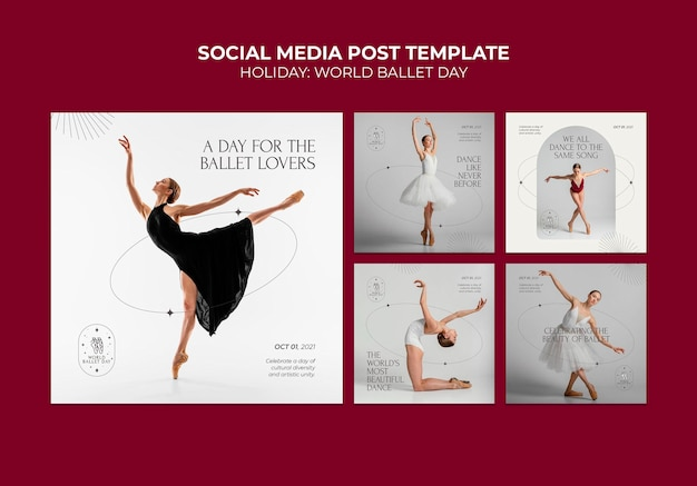 Publication sur les réseaux sociaux de la journée mondiale du ballet