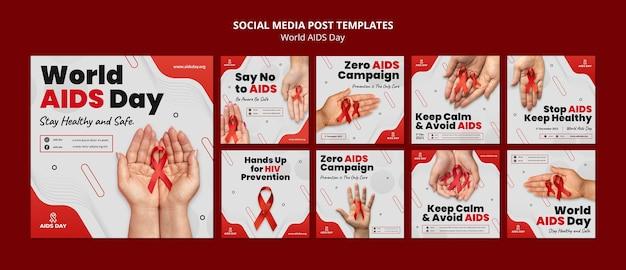 Publication sur les réseaux sociaux de la journée mondiale du sida