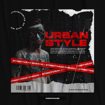 Publication sur les réseaux sociaux de mode urbaine