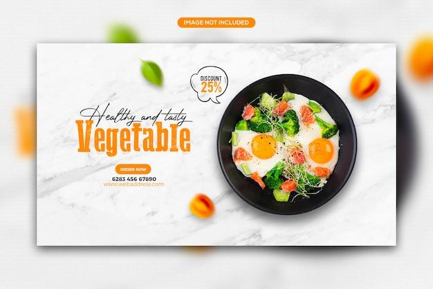 Publication sur les réseaux sociaux de promotion d'aliments sains et conception de modèle de bannière web