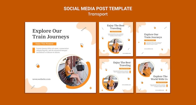 Publication sur les réseaux sociaux des voyages en train