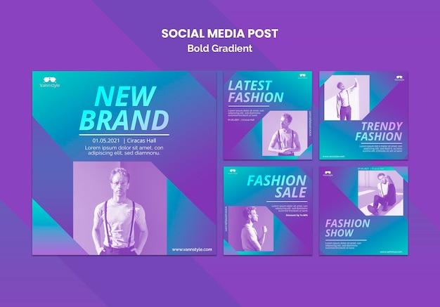 Publication de vente de mode sur les réseaux sociaux