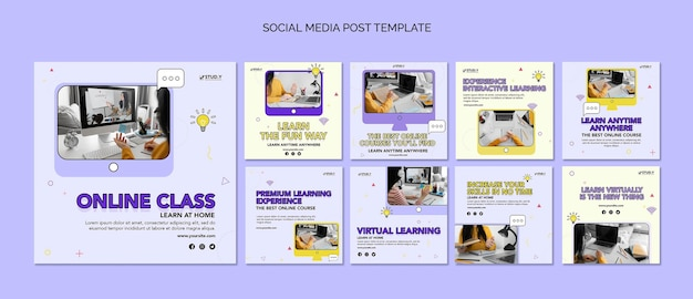 Publications de cours en ligne sur les réseaux sociaux