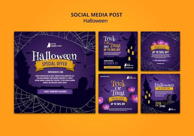 Publications d'halloween sur les réseaux sociaux