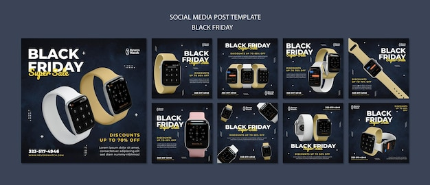 Publications instagram du vendredi noir