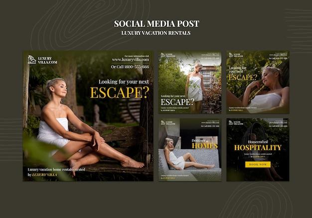 Publications instagram de locations de vacances de luxe