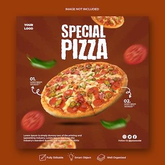 Publications instagram pour une pizza spéciale