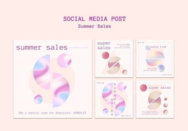 Publications instagram des soldes d'été