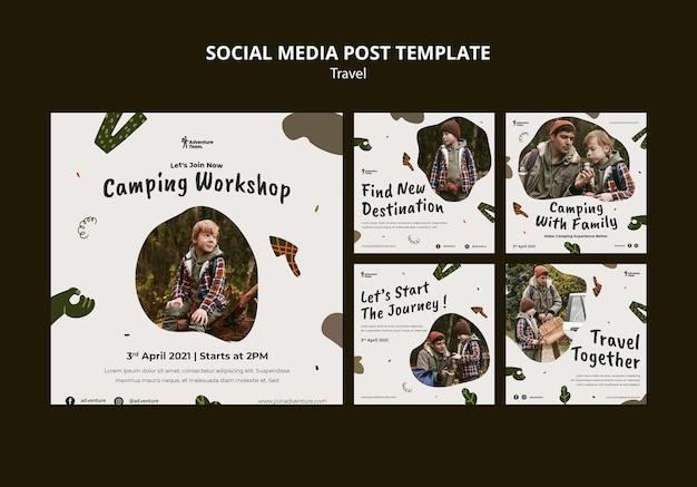 Publications itinérantes sur les réseaux sociaux avec photos