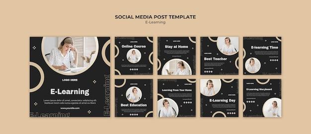 Publications sur les réseaux sociaux d'apprentissage en ligne
