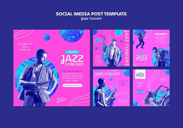 Publications sur les réseaux sociaux de concerts de jazz