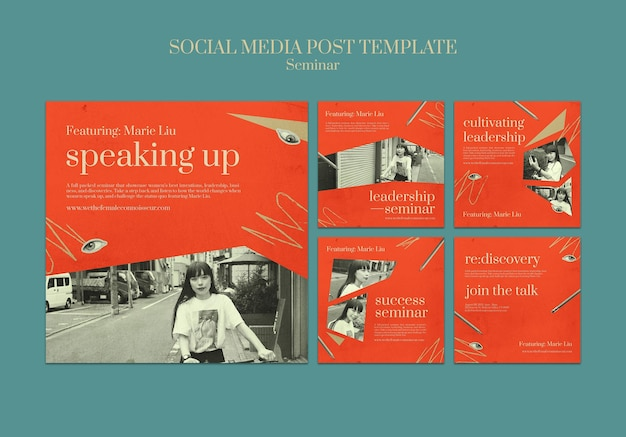 Publications sur les réseaux sociaux du séminaire sur le féminisme