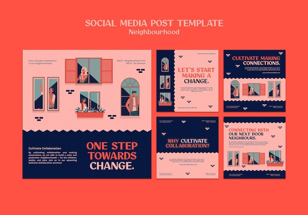 Publications sur les réseaux sociaux du séminaire de quartier