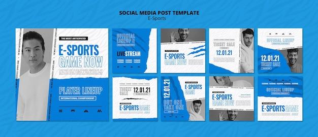 Publications sur les réseaux sociaux e-sports