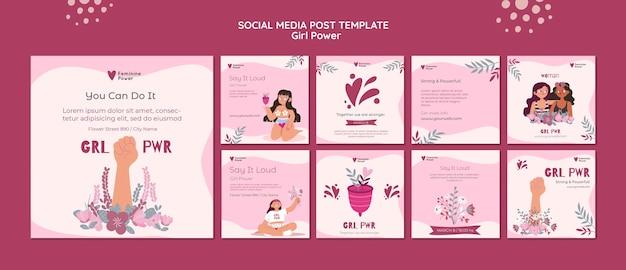 Publications sur les réseaux sociaux girl power