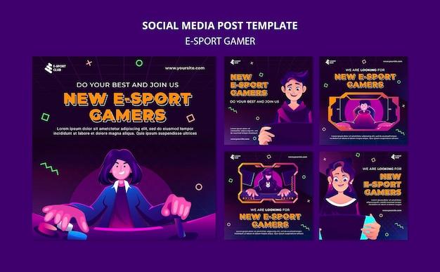 Publications sur les réseaux sociaux de jeux e-sport