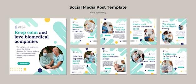 Publications sur les réseaux sociaux de la journée mondiale de la santé