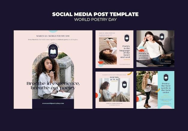 Publications sur les réseaux sociaux de la journée de la poésie