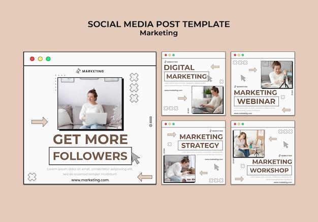 Publications sur les réseaux sociaux de marketing numérique