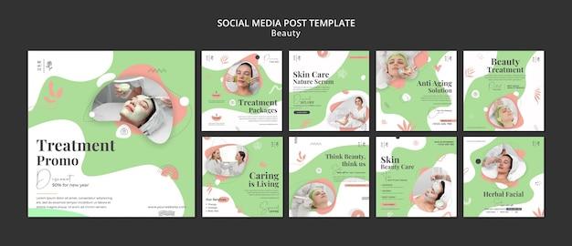 Publications sur les réseaux sociaux des salons de beauté