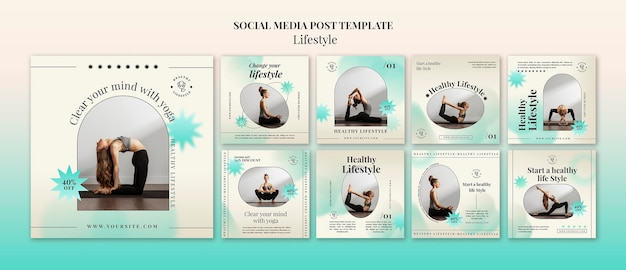 Publications sur les réseaux sociaux de yoga