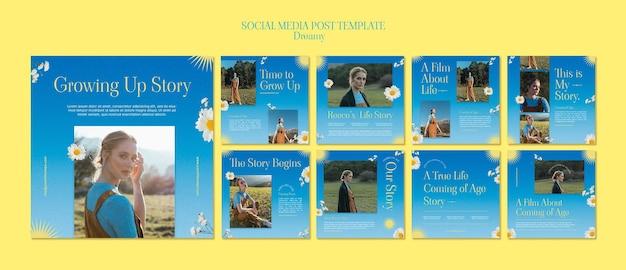 Publications de rêve sur les réseaux sociaux