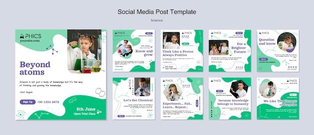 Publications scientifiques sur les réseaux sociaux avec photo