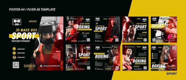 Publications sportives sur les réseaux sociaux